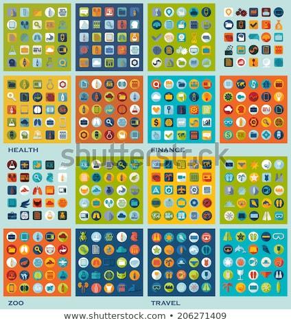 Veeartsenijkundig apotheek iconen eps 10 business Stockfoto © netkov1