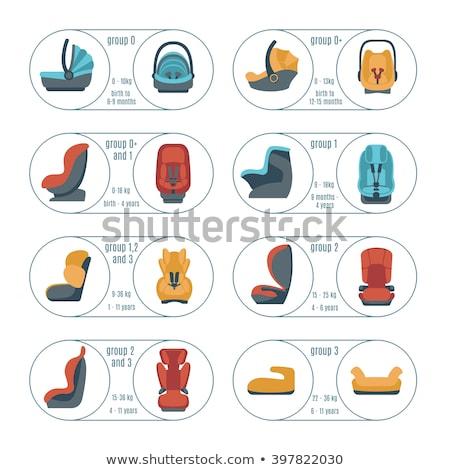 criança · carro · assento · ícone · fino · linha - foto stock © smoki