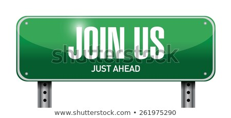 3d road sign join us stock photo © ribah
