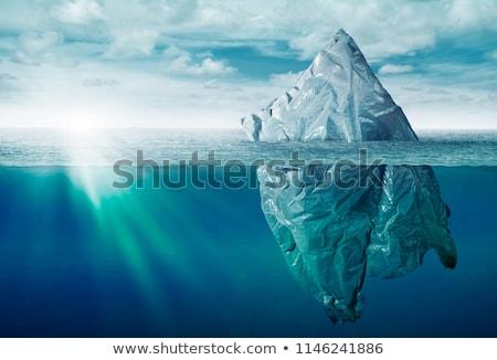 Prullenbak ijsberg vuilnis zak oceaan zee Stockfoto © Lightsource