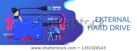 External hard drive concept banner header. Stock photo © RAStudio