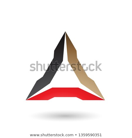 Black Beige and Red Spiked Triangle Vector Illustration Stock photo © cidepix