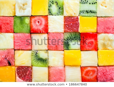 seamless pattern with red apples and watermelons stock photo © robuart