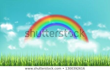 вектора · радуга · облака · небе · символ · воды - Сток-фото © frimufilms