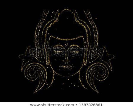 золото блеск Будду лице азиатских искусства Сток-фото © cienpies