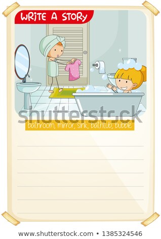 A picture narrative worksheet Stock photo © colematt