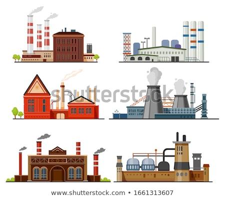 Fabbrica industriali costruzione acciaio vettore vuota Foto d'archivio © robuart