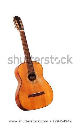 Spanish Guitar with Ornament, Musical Instrument Stock photo © robuart