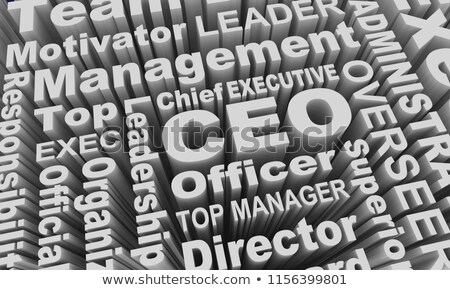 3d illustration of the word ceo stock photo © spectral