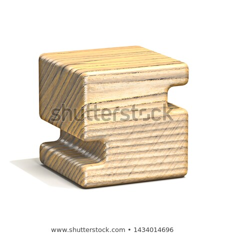 solid wooden cube font letter s 3d stock photo © djmilic