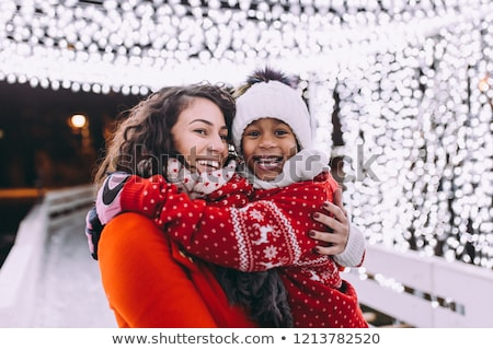 Ice Skating of Mother and Daughter, Winter Hobby Stock photo © robuart