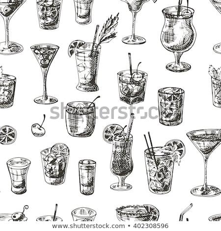 Kuba wzór gryzmolić podróży rum Zdjęcia stock © netkov1