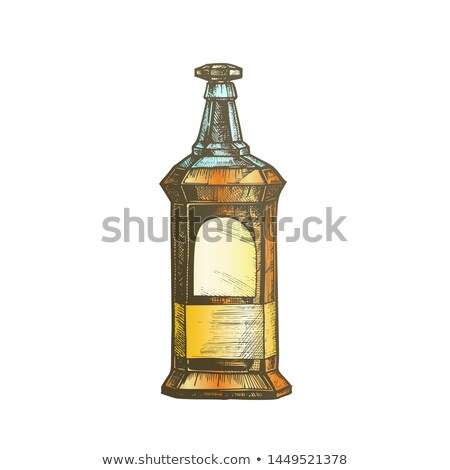 Couleur rectangulaire vintage whisky booze bouteille Photo stock © pikepicture