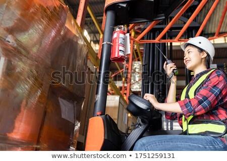 小さな 工場労働者 エンジニア 職場 腕 胸 ストックフォト © pressmaster