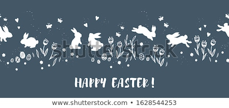 easter animals flowers and eggs illustration stock photo © robuart