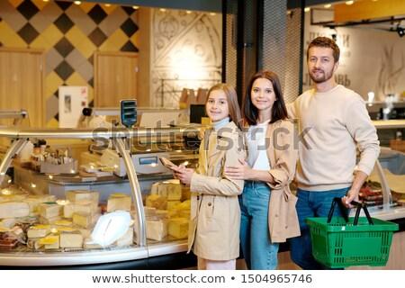 счастливым молодые семьи три Постоянный отображения Сток-фото © pressmaster