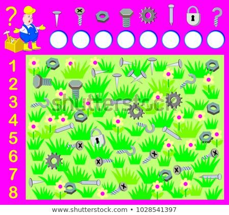 Oktatási gyerekek puzzle tanul játék vektor Stock fotó © Decorwithme