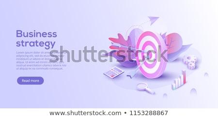 Megcélzott marketing vektor metafora üzlet precizitás Stock fotó © RAStudio