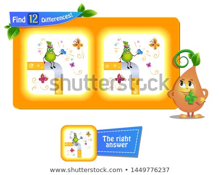 12 farklılıklar komik meyve kelebekler oyun Stok fotoğraf © Olena