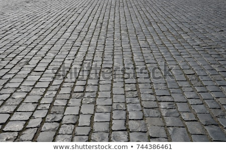 Abstract background of old cobblestone pavement close-up Stock photo © ruslanshramko