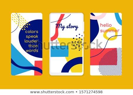 Merhaba yaz stil şablonları yaratıcı Stok fotoğraf © Decorwithme