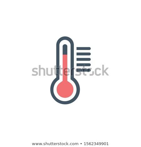 температура икона складе изолированный белый аннотация Сток-фото © kyryloff