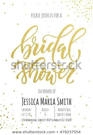 Bridal Shower Greeting Postcards Stock photo © Anna_leni