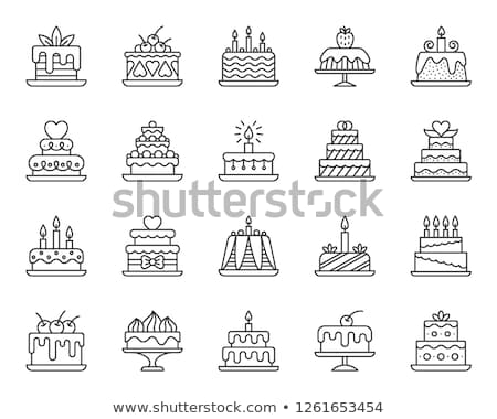 Cake Pie Delicious Collection Retro Set Vector Stock photo © pikepicture