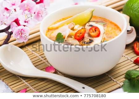 Porción yum sopa famoso tailandés alimentos Foto stock © Alex9500