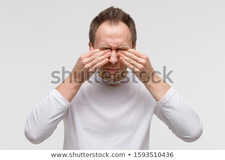 Close-up Of An Man Scratching His Hand Stock photo © AndreyPopov