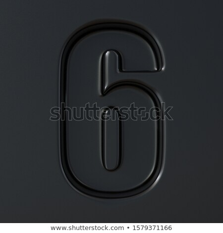 Black engraved font Number 6 SIX 3D Stock photo © djmilic