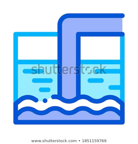 Water Treatment Tank And Offtake Tube Vector Icon Stock photo © pikepicture