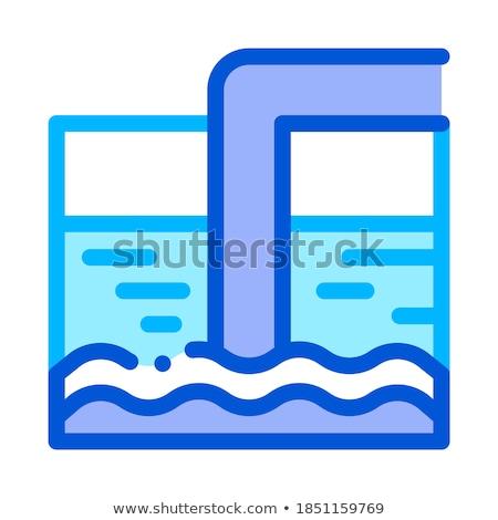 Wody leczenie zbiornika rur wektora ikona Zdjęcia stock © pikepicture