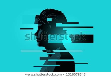 Man mentaal gezicht gezondheid jonge Stockfoto © solarseven