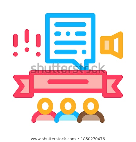 Student Graduates Announcement Icon Vector Outline Illustration Stock photo © pikepicture
