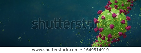 coronavirus covid 19 disease banner with two viruses stock photo © sarts