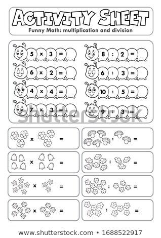 Actividad hoja matemáticas flores arte educación Foto stock © clairev