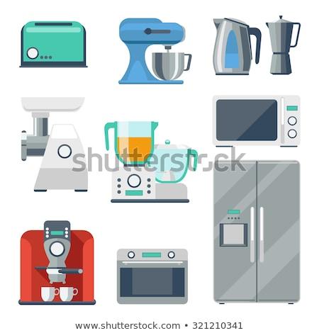 Cooker Kitchen Appliance Steel Equipment Vector Stock photo © robuart