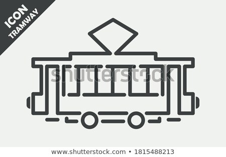 Tram silhouette, side view simple black icon Stock photo © evgeny89