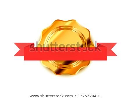 Heldere goud retro label luxe badge Stockfoto © evgeny89