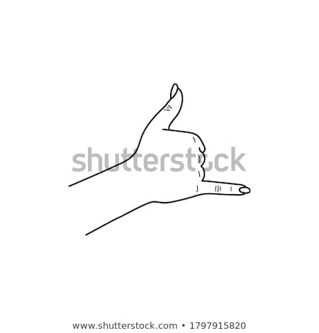 A thumbs-up sign drawn on the beach. Stock photo © latent