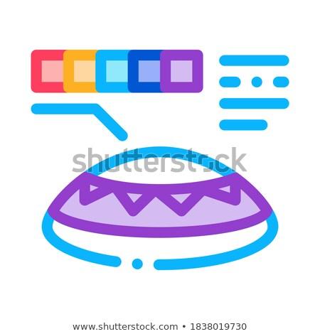 Lente color icono vector ilustración Foto stock © pikepicture