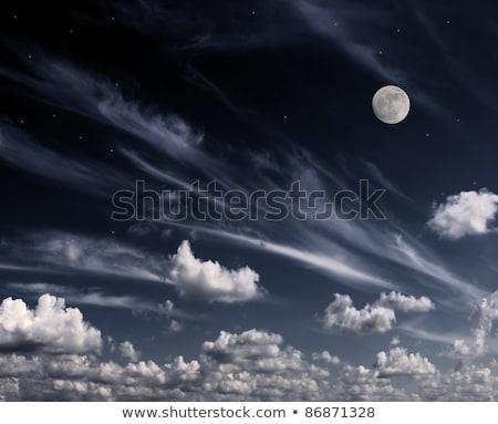 большой полнолуние ночное небо звезды пространстве природы Сток-фото © vapi