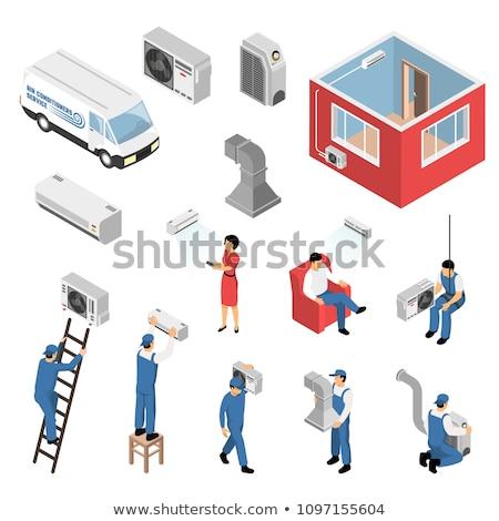 Acondicionador trabajador icono vector Foto stock © pikepicture