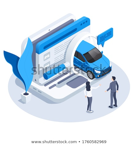 Buyer Chooses Car isometric icon vector illustration Stock photo © pikepicture