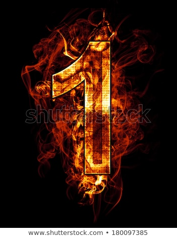 abstract background   flames numbers stock photo © radoma