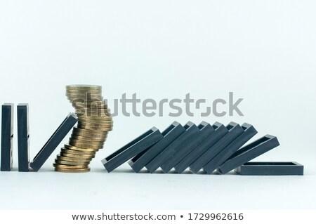 Domino valuta euro dollar pond yen Stockfoto © Giashpee