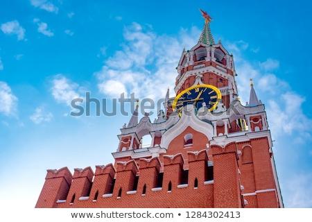Kremlin muur Moskou winter sneeuw zomer Stockfoto © Paha_L