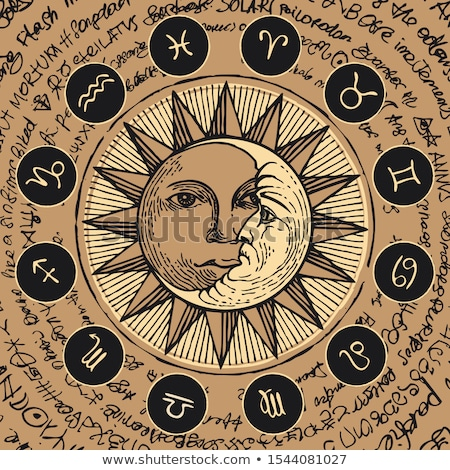 Manuscrito zodíaco estrela assinar grunge mulher Foto stock © cidepix