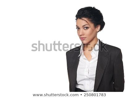 ernstig · afro-amerikaanse · vrouw · business · pak · jonge - stockfoto © darrinhenry